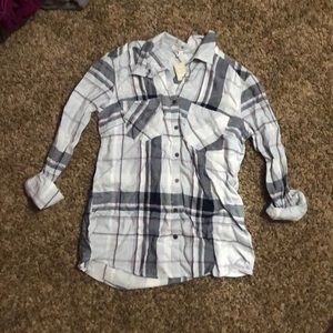 Light Blue and Purple Flannel